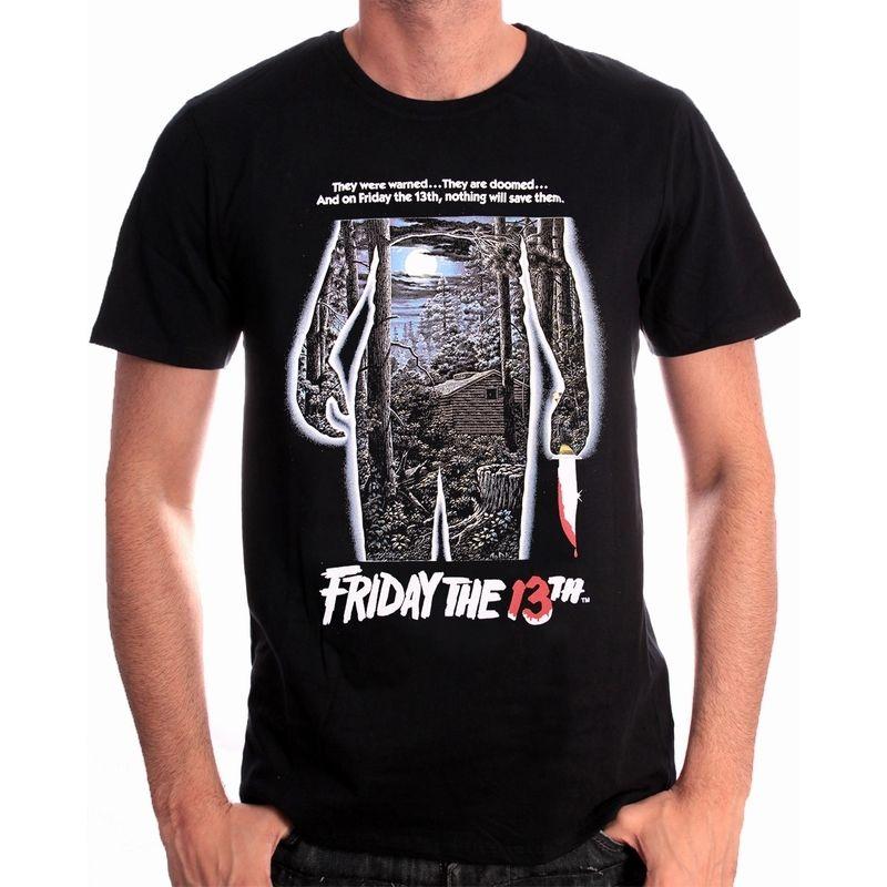 Gildan Official Original Friday The 13Th Jason Movie Poster Black (Brand New) MenS Design O-Neck Short-Sleeve T Shirts