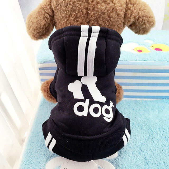 Winter Warm Pet Dog Clothes Four-legs Sports Hoodies For Small Dogs Chihuahua Pug French Bulldog Clothing Puppy Dog Coat Jacket 4