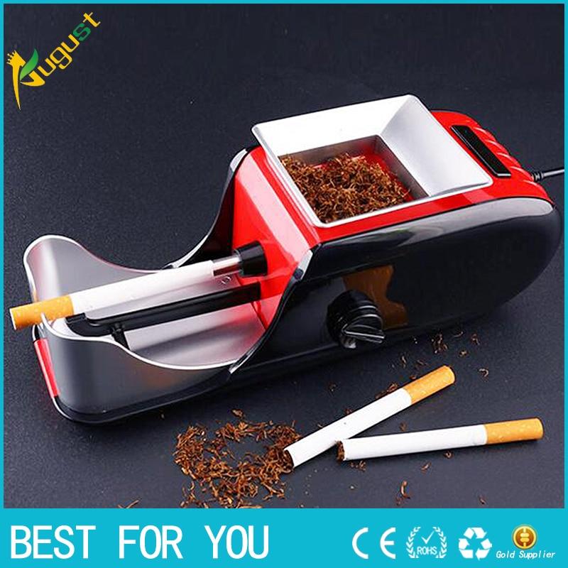 इलेक्ट्रिक सिगरेट तंबाकू रोलर रोलिंग इंजेक्टर मशीन निर्माता सिगरेट मशीन यूरोपीय संघ प्लग कट तंबाकू सिगरेट सिगार हल्का