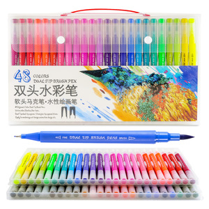 Image 1 - Dainayw 100Colors Dual Brush Markers Pen Fine Tip Drawing Painting Water inks Pens for Coloring Manga Calligraphy Graffiti