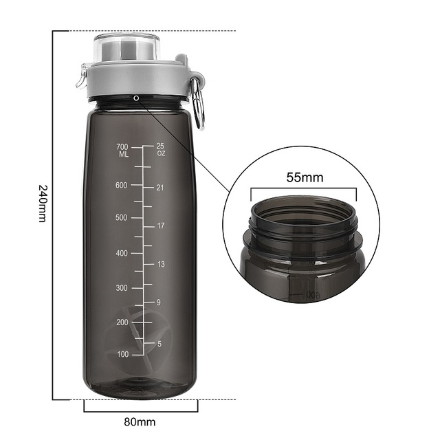 800ml Tritan BPA Free Leak Proof Water Bottle With Cover 2
