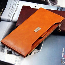 Hot Sale Women Wallet PU Leather Zipper Wallets Female 5 Colors Change Purses Card & ID Holder Lady Top Grade Long Clutches