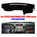 Car dashboard cover mat for TOYOTA  PRADO 2002-2009 years Left hand drive dashmat pad dash mat covers dashboard accessories