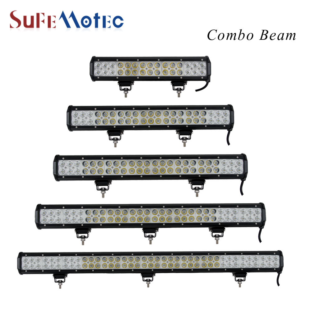 SufeMotec 126W 144W 180W 234W LED Work Light Bar Combo for Indicators Driving Offroad Boat Car Tractor Truck 4x4 SUV ATV 4pcs 48w led work light for indicators motorcycle driving offroad boat car tractor truck 4x4 suv atv flood 12v 24v
