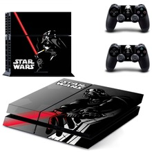 Star Wars PS4 Full Faceplates Skin Console & Controller Decal Stickers for Sony PlayStation 4 Console and Two Controller