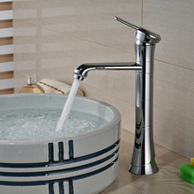Unique Desing Countertop Brass Basin Faucet Deck Mount Single Lever Bathroom Hot Cold Water Mixer Taps