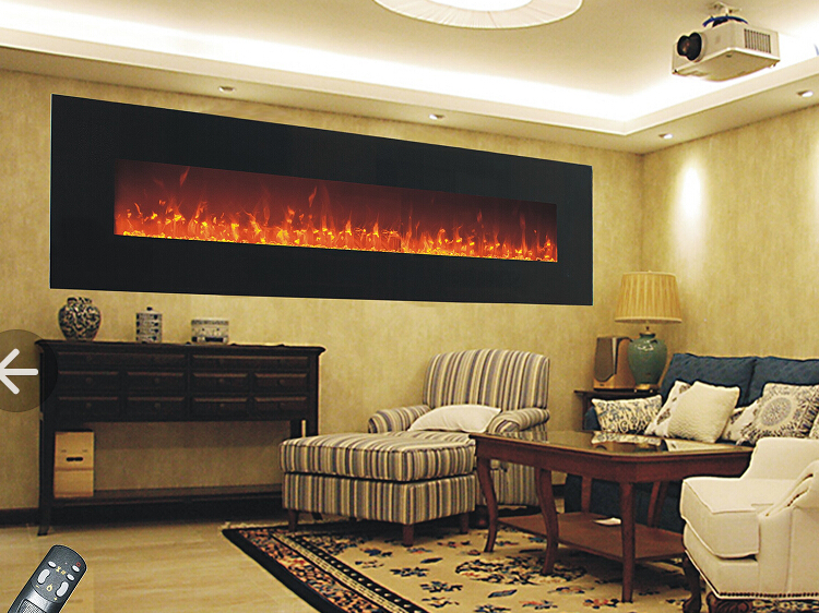 Free Shipping To Italy 72 Inch Wall Hanging Fireplace For Home