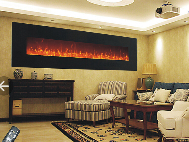 Free shipping to Italy 72 inch wall hanging fireplace for home ...