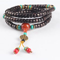 Ubeauty  8mm 108 genuine natural black sandalwood buddhist prayer beads bracelet mala necklace Buddha meditation Tibetan jewelry