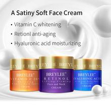 BREYLEE Hyaluronic Acid moisturizing / Retinol anti-aging /Vitamin C whitening Anti Wrinkle Acne Removal Serum Face Cream