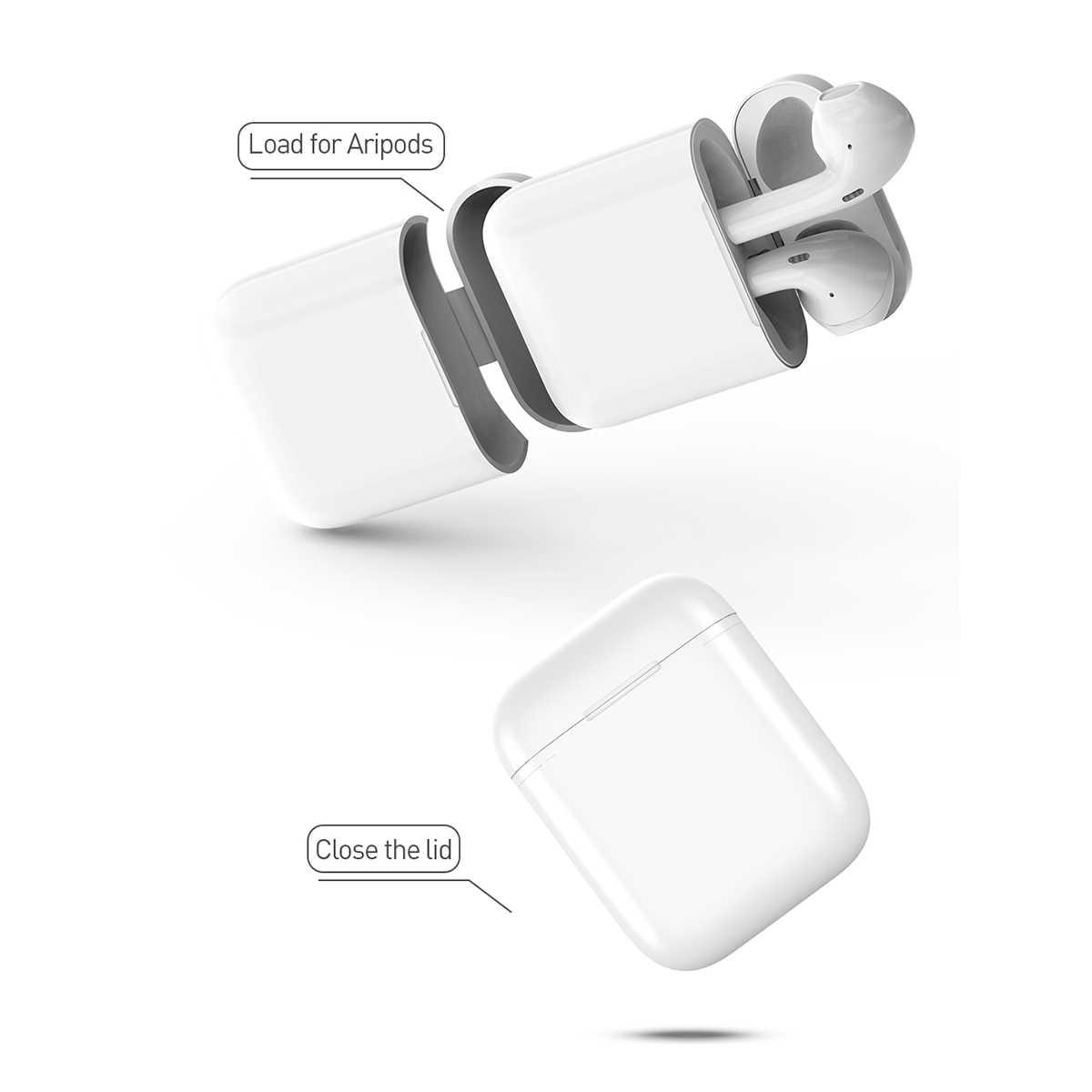 Słuchawka Bluetooth QI bezprzewodowa ładowarka przypadku odbiornik ładowania uchwyt ochronny pudełko do Airpod bezprzewodowe ładowanie QI standardowy