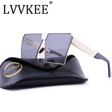 Nuevos hombres o Mujeres gafas de Sol UV400 Gradient Escudo Oversize Square Unique Vintage marcos de Conducción Protección UV400 Alta calidad