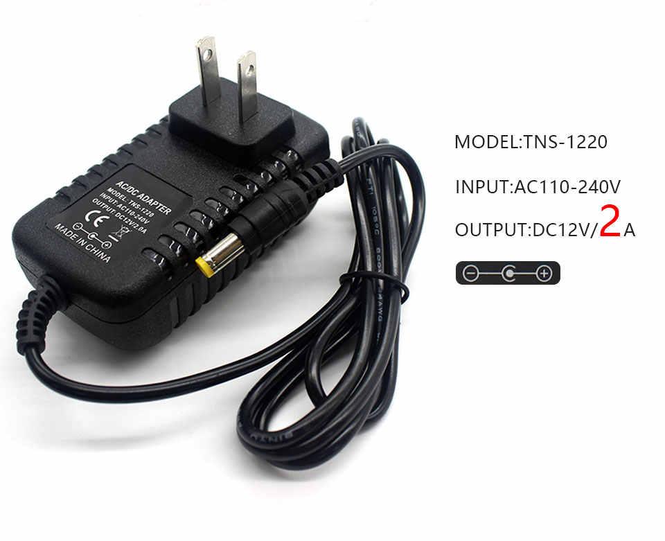 1 шт. 12V2A AC 100 V-240 V преобразователь 1A 3A адаптер AC/DC 12 V 2A 2000mA Питание US/EU Plug 5,5 мм x 2,1-2,5 мм для Светодиодный CCTV