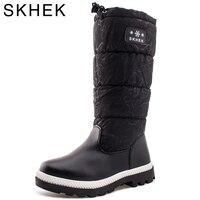 HOT SKHEK Brand Winter Children Shoes Girl Boy Boots Water Proof Oxford Cloth Kids Snow Boots