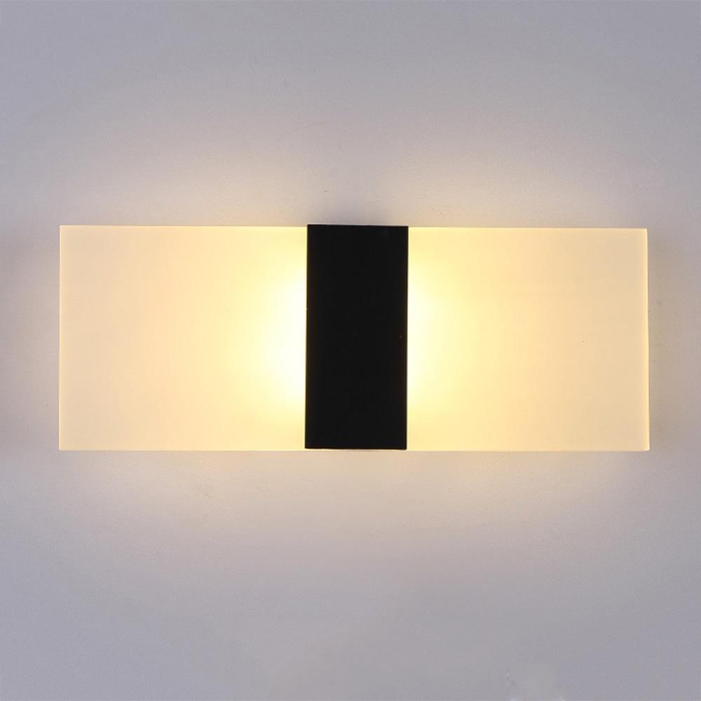 Modern Minimalist Wall Lights Glass Shade Square/Oval Bedroom ...