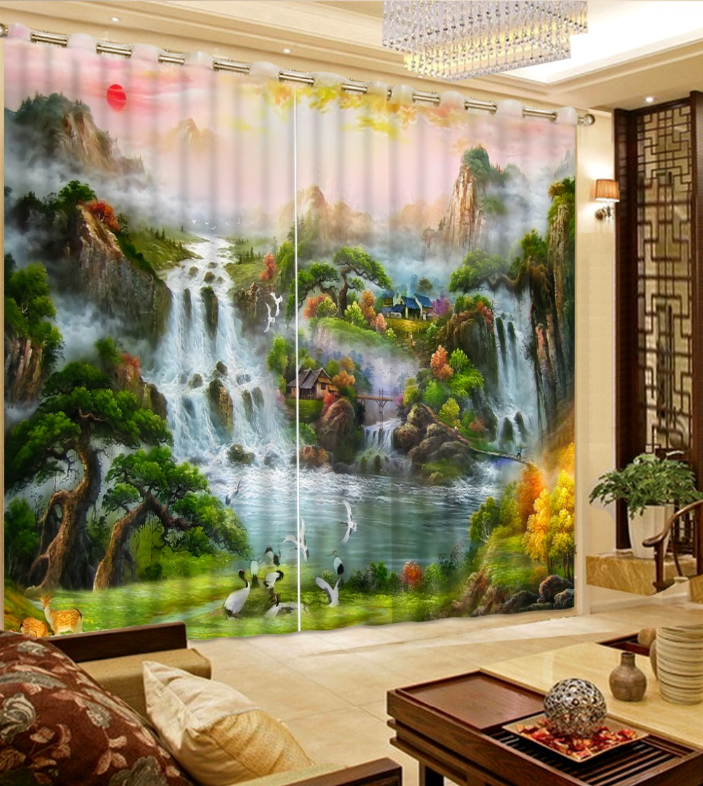 NoEnName_Null 3d Curtains Fairy tale world Living Room Window Modern Curtains Beding Room High-precision Shade CL-DLM718