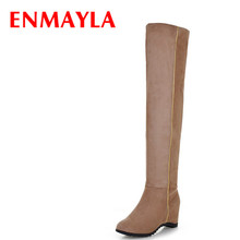new size 34-43 Women Knee Boots Vintage Square High Heels Platform long boots Shoes Sexy Winter Casual Snow Shoes Boots new fashion half knee high boots sexy high heels boots shoes winter autumn platform motorcycle snow style boots for women