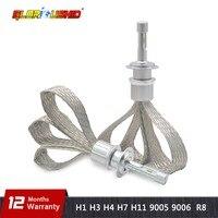 R3 80W 9600LM Car LED Headlight H7 H1 H3 H4 H8 H9 H11 9005 HB3 HB4