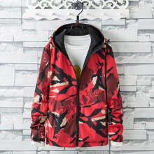 New men Bronzing Camouflage wear on both sides jacket casual assault coat mens spring and autumn lovers