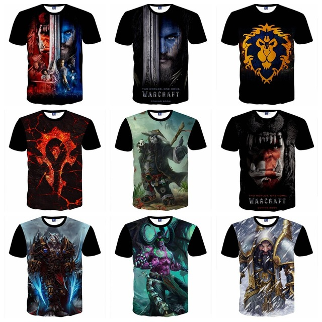 09844f90 High-quality short-sleeved 3d personality game characters printed t-shirt  big boys