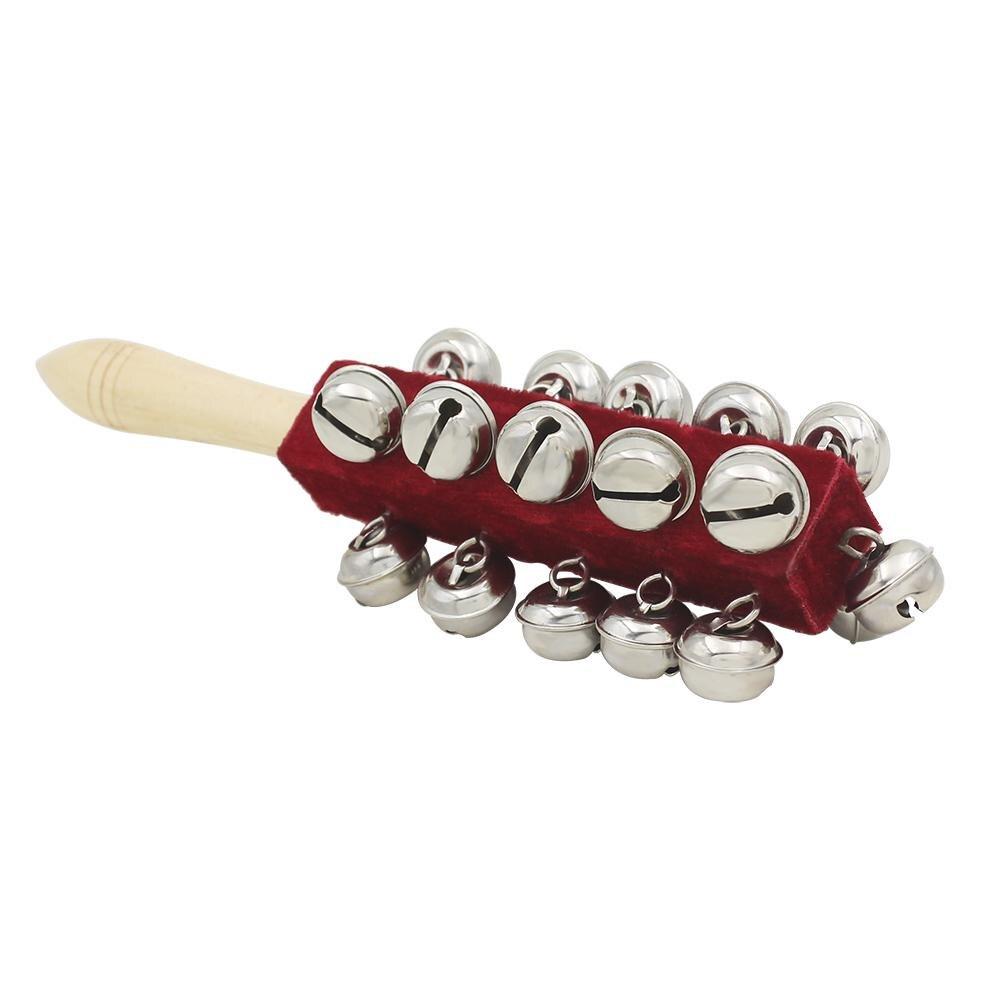None Bell Guiro палка шейкер из натурального дерева 21 колокольчик погремушка ручной Колокольчик ударный шейкер музыкальный инструмент для детей детская игрушка