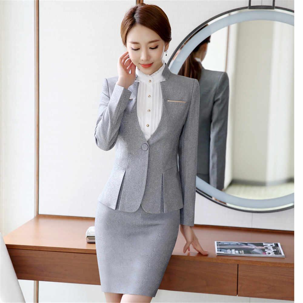 85841a0c0 Mujer formal trajes ropa de oficina uniforme diseños Oficina trajes blazers  femenino spa uniforme elegantes trajes de pantalón