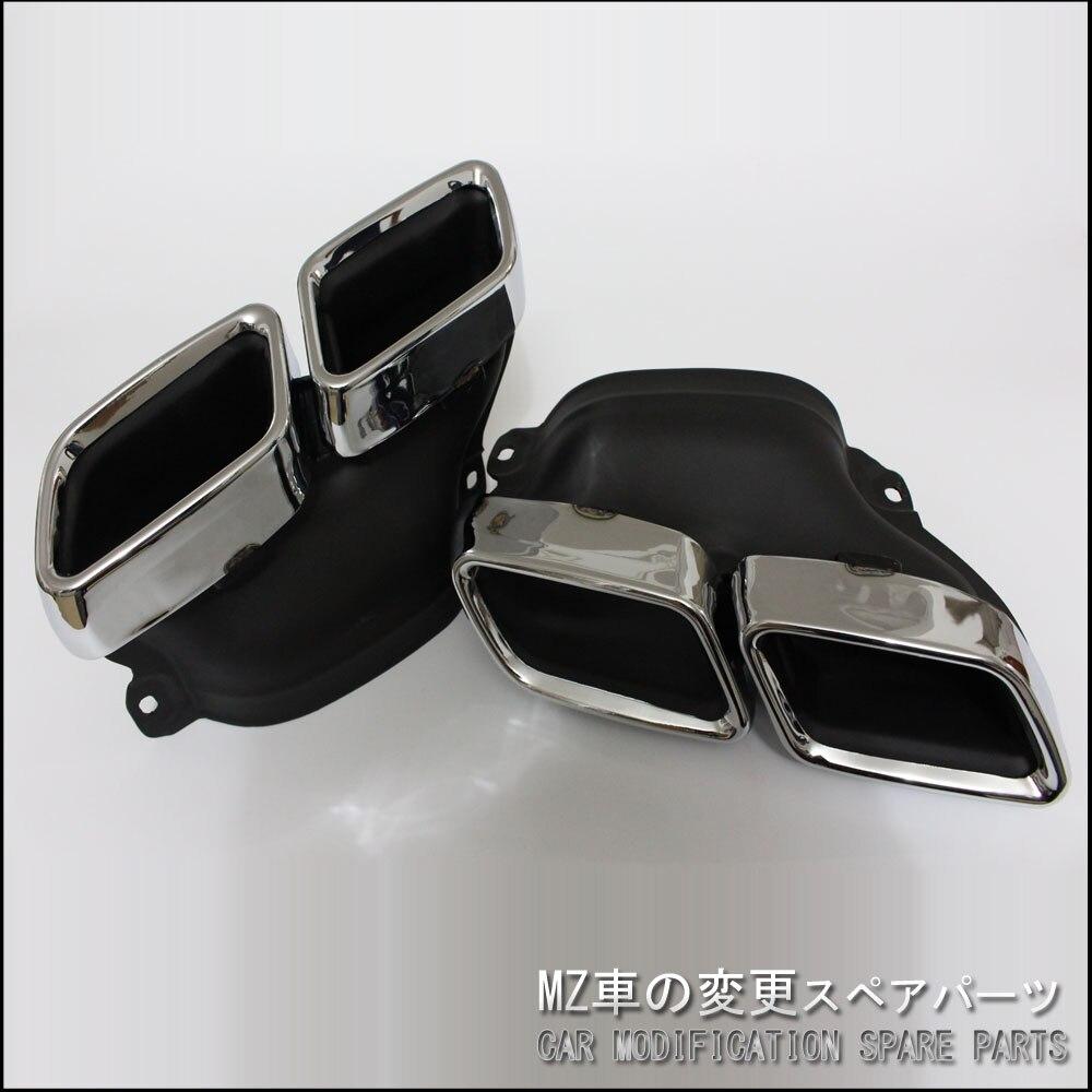 Car styling Cromato In Acciaio Inox 304 Per Mercedes-Benz AMG S65 S63 E63 Silenziatore di Scarico Punte W222 W212 W205 r231 W218