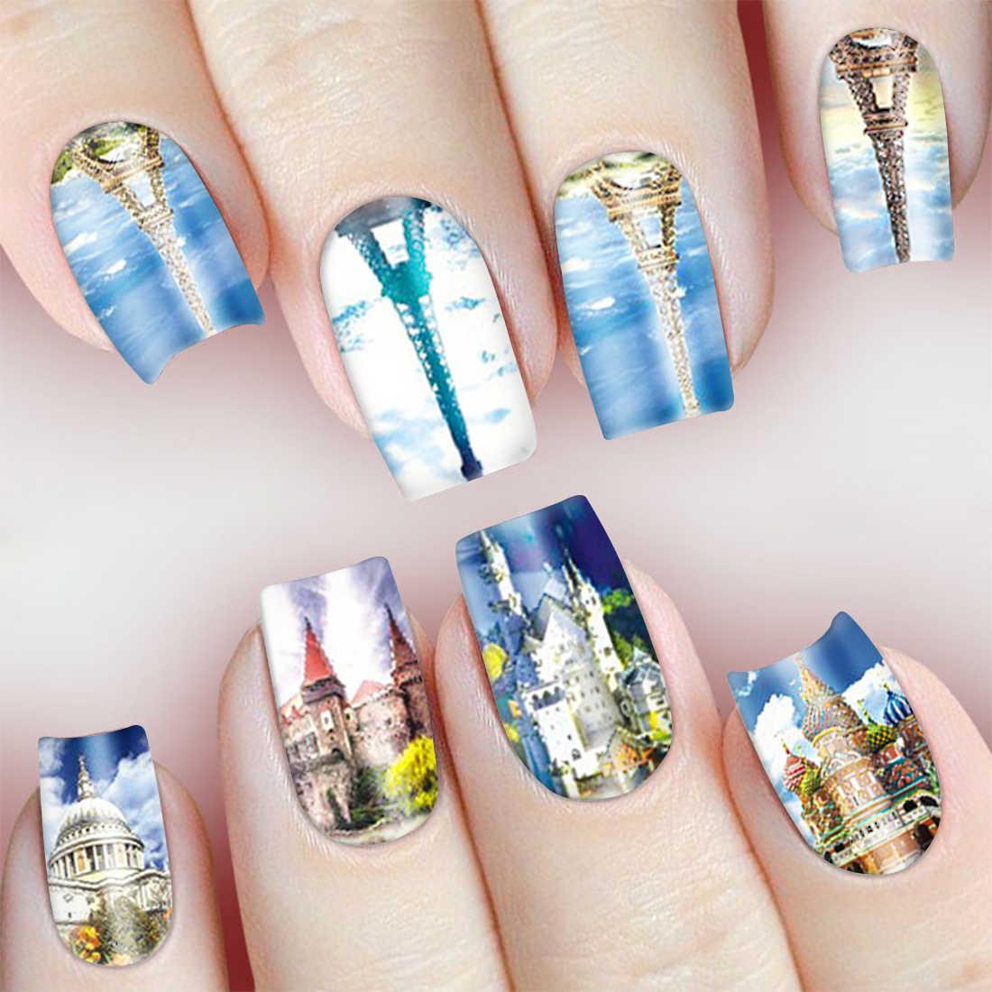Дизайн ногтей картинка город