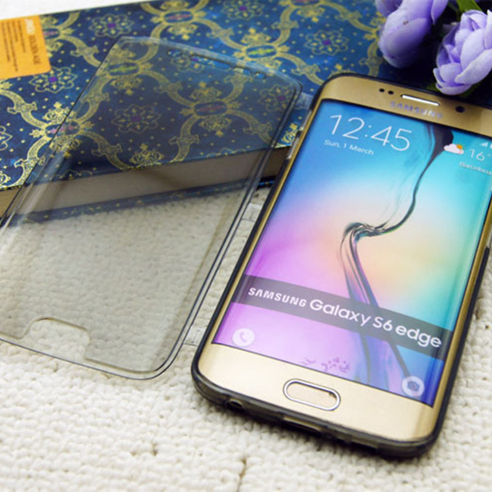 brand new e4476 5f30c US $33.98 |S6 Edge Best quality transparent clear soft tpu flip cover case  For Samsung Galaxy S6 Edge Plus mobile phone case for s6 edge on ...