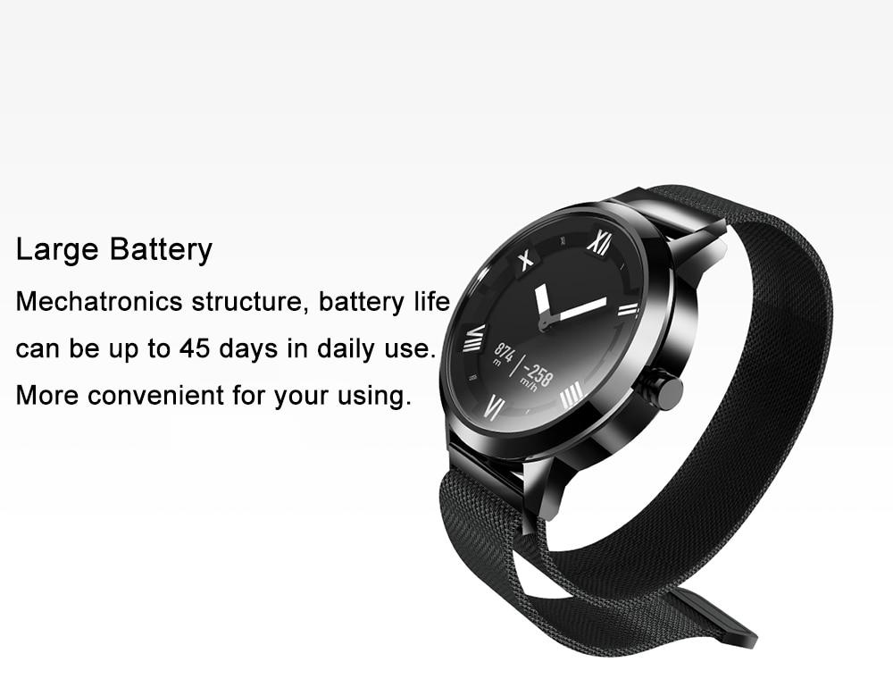 Lenovo Watch X Quartz Smartwatch 8atm Water Resistant Milanese Strap