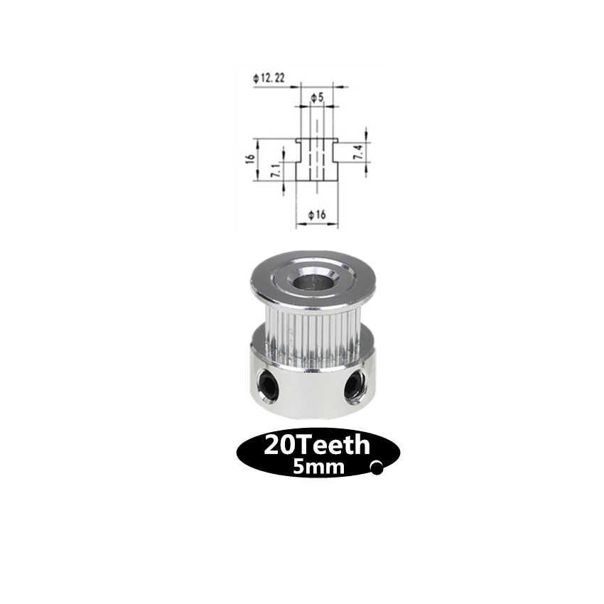 Peças da impressora 3d gt2 20 dentes, 5mm/8mm alumínio polia de sincronização para 20 dentes correia dentada aberta GT2-6mm