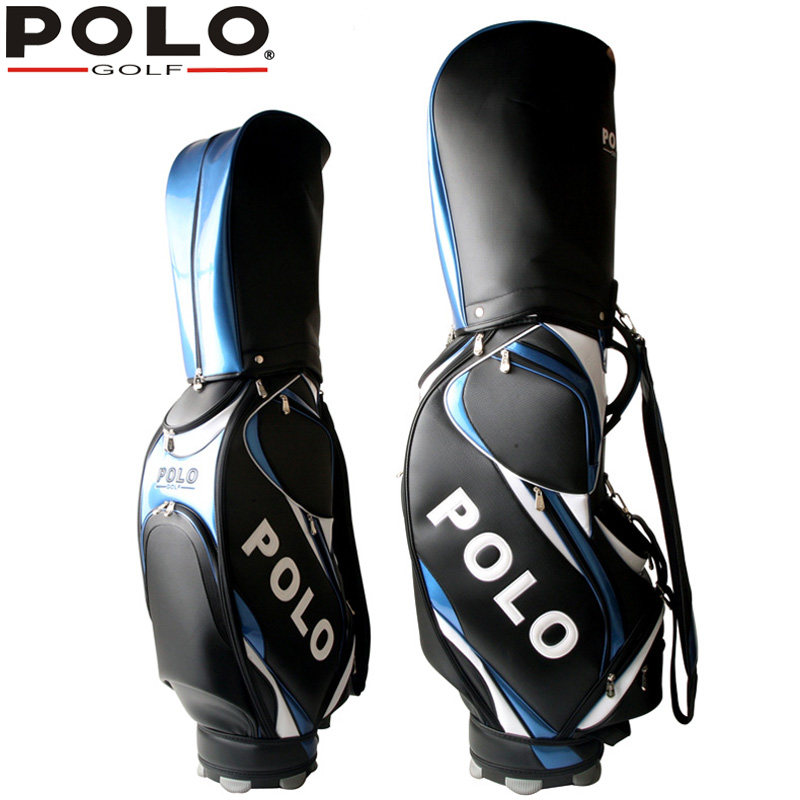 POLO Authentic New Standard Golf Bags Man Exalted Waterproof Leather PU Caddy Clubs Bag Men Professional Bag Equipment Package pgm vs golf standard ball package bag87 23 46cm men golf plaid club bag women ball environmental pu cart bag can hold 13 clubs