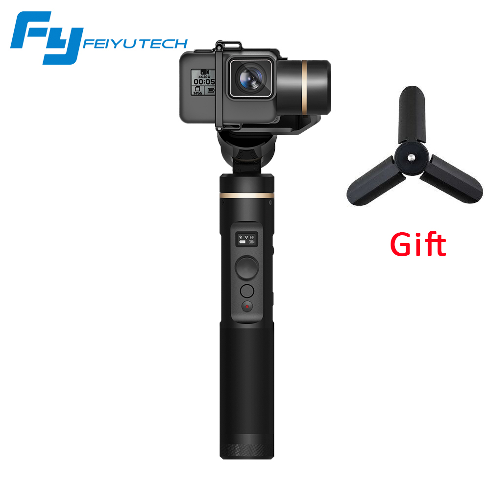 Feiyutech Feiyu G6 Handheld 3-axis Brushless Gimbal for gopro hero 3/4/5 6 RX0 Stabilizer with Blue Tooth OLED Screen