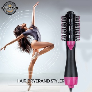 Image 5 - 1000W One Step Dryer Hair Dryer Brush 2 In 1 Negative Ion Hair Curler Straightener Electric Blow Dryer Comb Hair Brush styler