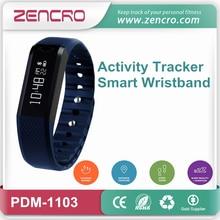 Social Media Notification Portable Wristband BLE Pedometer Smart Fitness Tracker