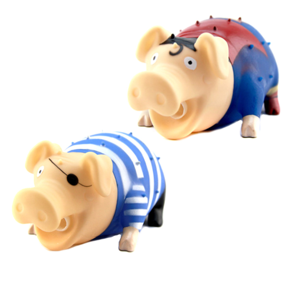 Plastic Cute Cartoon Pig Toy Scream Pig Squeeze Squawking Vent Toys Spoof Tricky Toys for children adn Adult
