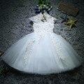 Для новорожденных девочек крещения рождественские платья Белый блестки, бисер, кружева Платье для первого дня рождения для маленькой принц...