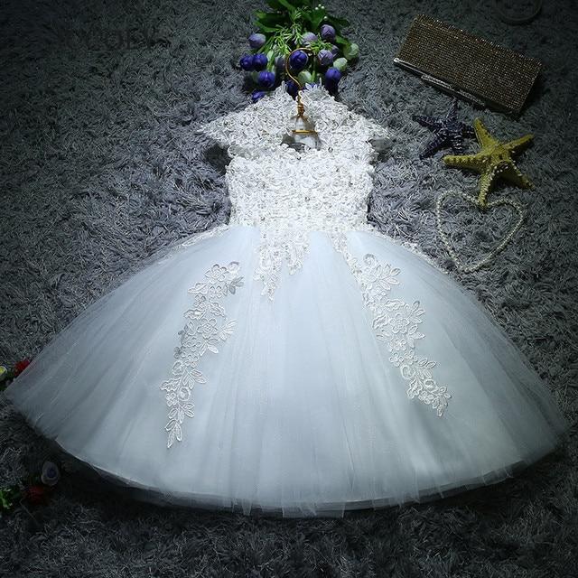 Для новорожденных девочек крещения рождественские платья Белый блестки, бисер, кружева Платье для первого дня рождения для маленькой принцессы платье на крестины