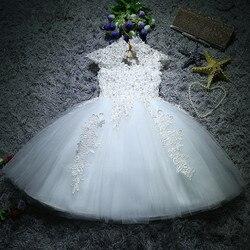 Vestidos de princesa para meninas recém-nascidas, vestidos de batismo para meninas, lantejoulas brancas, vestido de 1 ano de aniversário infantil, vestido de batizado