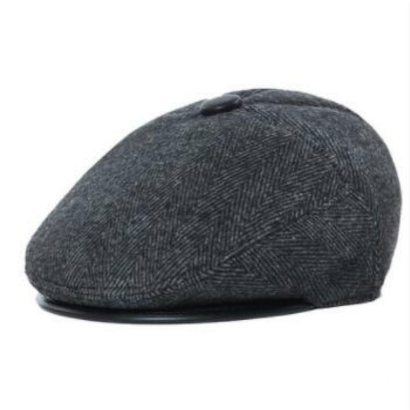 Que en la ducha de los viejos boinas de invierno de los hombres sombrero  grueso caliente de la aleta del oído de pato sombrero plano plegable de la  aleta ... 81794f9d851