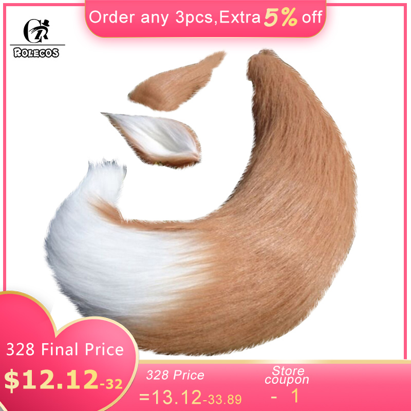 ROLECOS New Arrival Anime Spice and Wolf Cosplay   Headwear   Wolf Cosplay Accessories Wolf Ear Cute Cosplay Tail