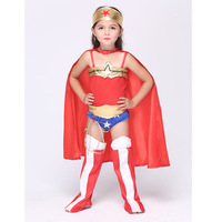 Wonder Woman Children Party Cosplay Costumes Halloween Superman Gift For Girls Clothes Children S Clothing Set