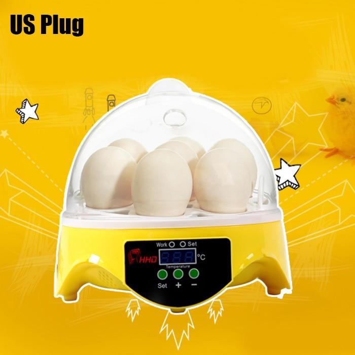 Mini 7 Egg Incubator Poultry Incubator Brooder Digital Temperature Hatchery Egg Incubator Hatcher Chicken Duck Bird Pigeon Z30