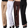 Fashion Woman High quality Flare Pants Mid Waist  Trousers for women plus size xxxxl