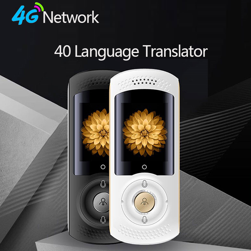 40 Language Voice Smart Translator 2.0 inch Touch Screen 4G Network WIFI SIM Card Real Time Translator Travel Meeting Equipment