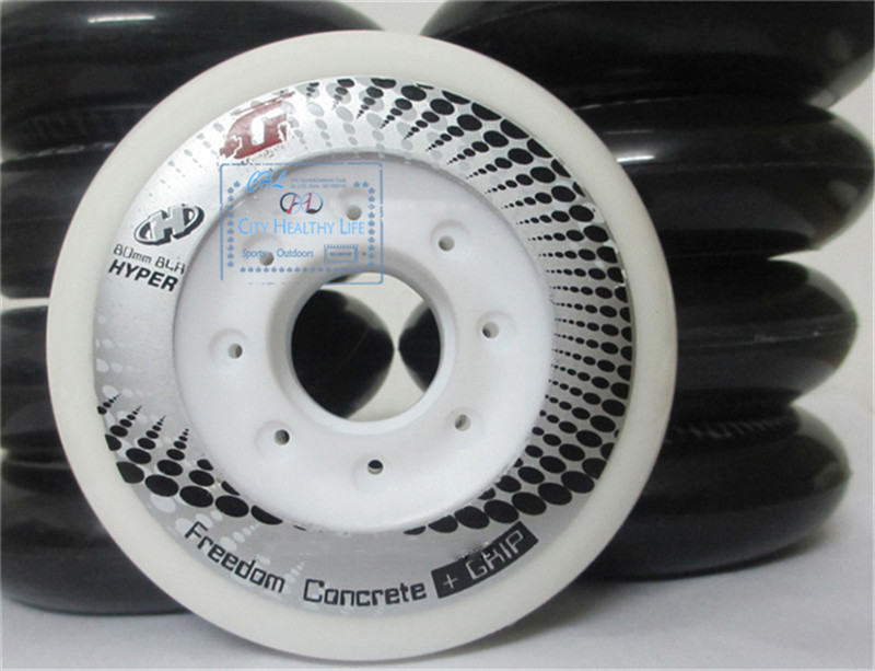 Hyper +G Concrete Wheels Roller Skates Wheels For SEBA RB Inline Skating Sliding Wheels FSK  84A 85A 72 76 80mm 4pcs/lot