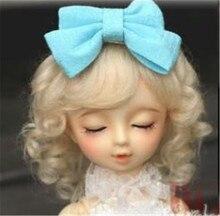 Прекрасный ребенок волна парики для BJD куклы высокого Tempreature провода мохер головные уборы модные куклы аксессуары горячая распродажа 081