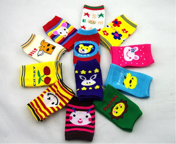 Schnelle Lieferung Cartoon Baby Kneelet Kniescheibe Socken Bein Kinder Wärmer Kleinkind Knieellenbogenschutz Kinder Weihnachtsgeschenke