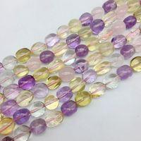 Natural Colorido Misturado Amarelo Rosa de Cristal Roxo Contas Pepita Suave Espaçador Oval 10-14mm DIY Jewelry Making Supplies