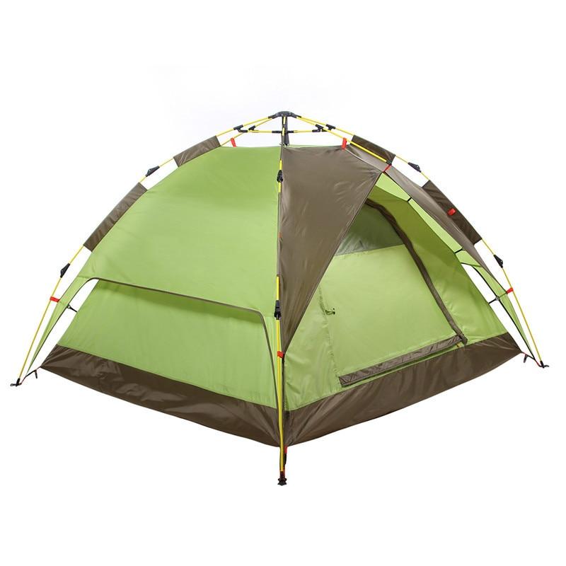 Tente De Camping automatique 3-4 personnes Baraza d'acampamento Double couche portable Gazebo tente randonnée voyage Baraza d'acampamento